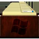 Windows Explorer Wood-128