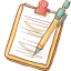 Notepad Yellow Mechapencil icon
