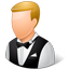 Waiter Male Light Icon