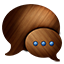 Messages Wooden Icon