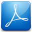 Acrobat blue icon