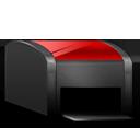 Printer black red-128