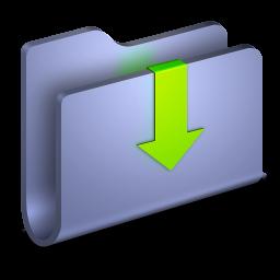 Downloads Blue Folder