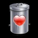 Recycle love bin