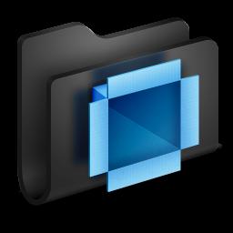 Dropbox Black Folder