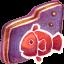 Fishy Violet Folder icon