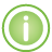 Information Frame green icon