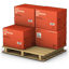 Red Cargo Boxes icon