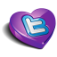 Twitter purple heart icon