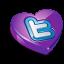 Twitter purple heart Icon