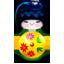 Kokeshi green icon