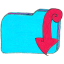 Folder b downloads icon