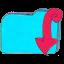 Folder b downloads icon