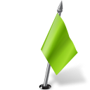 Map Marker Flag 2 Right Chartreuse-128