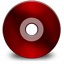 Cd black red Icon