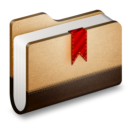 Bookmarks Brown Folder